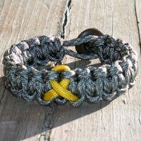 Parachute Cord Bracelet with Awareness Ribbon