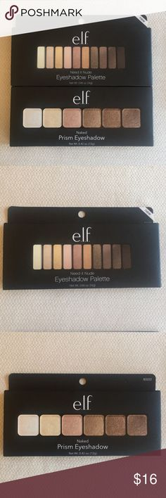 Brand New e.l.f. Eyeshadow Palettes These are two brand new eyeshadow palettes. One is the Need it Nude Palette and the other is the Naked Prism Palette. The brightening face primer will be a free gift with purchase! e.l.f. Makeup Eyeshadow