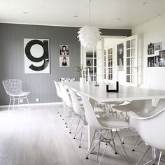 Grey / white / dinning room / interior decor / decoration / home / simple / modern / interior design