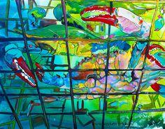 """Underwater Crab Pot"" - Jen Callahan Artwork - Coastal Colors™"