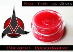 "Star Trek ~ ""Klingon Bloodwine"" lip gloss by MerchantofGallifrey, $2.50"