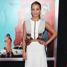 "Alicia Vikander at the ""Man from U.N.C.L.E."" premiere in New York wearing #LouisVuitton #LVCruise by @nicolasghesquiereofficial"