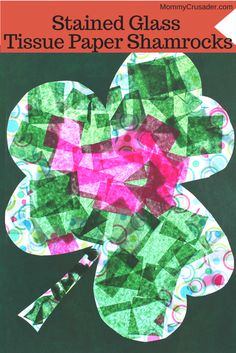 This is a fun and practically mess-free St. Patricks Day craft/activity that my preschooler and I did -- with the added bonus of developing fine motor skills.