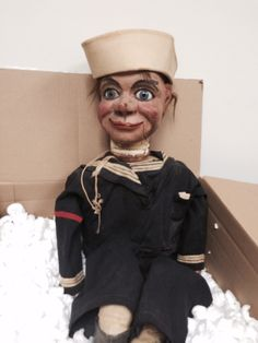 Just added another Frank Marshall Ventriloquist antique dummy to the collection Puppet Toys, Marionette Puppet, Ventriloquist Puppets, Frank Marshall, Scary Dolls, Toy Theatre, Creepy Pictures, Vintage Dolls, Vintage Stuff