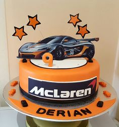 7th Birthday Party For Boys, Cars Birthday Parties, Birthday Cake, Fondant Bow, Fondant Flowers, Fondant Cakes, Car Cake Tutorial, Fondant Tutorial, Car Cakes For Men