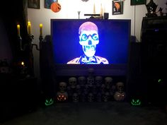 Wicked Woods Cemetery Halloween 2011 - Good use of a tv for decorations