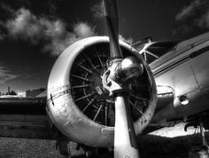 Black And White Plane Engine Photograph by Thomas Young - Black And White Plane Engine Fine Art Prints and Posters for Sale