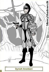 Dyreah, portrait.  Protagonista de la novela de fantasía épica Ojos de Jade, de F. J. Sanz.  http://www.fjsanz.com