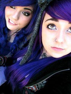 LedaMonsterBunny and serena with purple hair