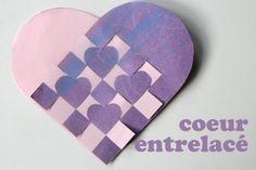 coeur-entrelace Quilling, Origami, Activities, Crafts, Montessori, Parents, Valentines, Children, Decor