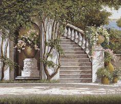 La Scalinata Painting  - La Scalinata Fine Art Print