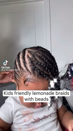 Black Girl Braided Hairstyles, Girls Natural Hairstyles, Baby Girl Hairstyles, Cute Hairstyles, Natural Hair Tips, Natural Hair Styles, Girl Hair Dos, Marley Hair, Braids With Beads