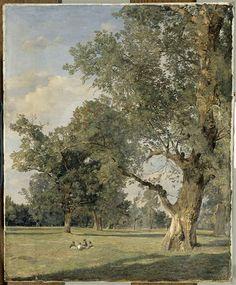 """""""Vue du Prater à Vienne (avec arbre à droite)"""" de Ferdinand Georg Waldmüller. Paris, musée du Louvre - Photo (C) RMN-Grand Palais (musée du Louvre) / Gérard Blot"""