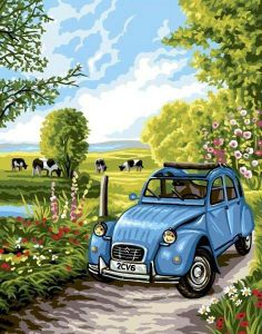 Citroen 2CV artwork