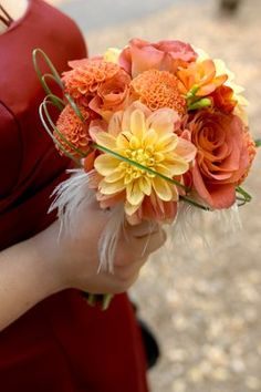 weddings bouquet flowers peach red orange, wedding planning ideas and trends fresh ideas