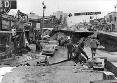 4th Ave. near C St. in Anchorage. Photo by U.S. Army, 1964. Figure 45, U.S. Geological Survey