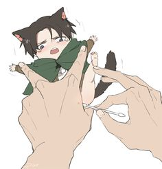 Levi Ackerman  Anime/Manga: Shingeki no Kyojin (Attack on Titans)  Artist: http://www.pixiv.net/member.php?id=1135168