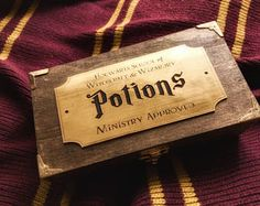 Harry Potter inspired potion bottle box with bottles