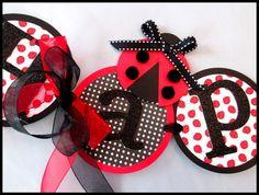 Ladybug Happy Birthday Banner by LaLaLissyLou on Etsy, $40.00