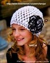 White Skull Cap free crochet graph pattern