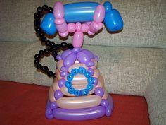 Teléfono clásico globoflexia