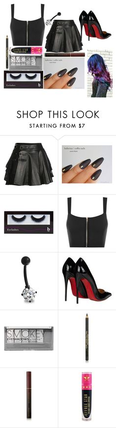 """Kayla: October 4, 2016"" by disneyfreaks39 ❤ liked on Polyvore featuring Mairi Mcdonald, BBrowBar, WearAll, Bling Jewelry, Christian Louboutin, Boohoo, Estée Lauder, Kevyn Aucoin and Jeffree Star"