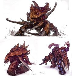 #Zerg designs by Mr Jack. #StarCraft