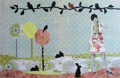 dids world Doll Painting, Paper Dolls, Mixed Media, Doodles, Collage, Colours, Pattern, Collages, Patterns