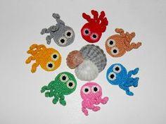 Crochet applique uncinetto di polpo polpo di mare abitanti