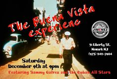 Join Us Saturday Night December 9th The Buena Vista Social Experience Continues.. Live Cuban Music  Featuring Sammy Galvez The Cuban All Stars Jazz Band Cuban Cocktails  Cuban Music  Cuban Dance First Set 9pm  #jimenez #handmade #cigar #cocktails #bar #speakeasy #thepasswordisjimenez #cubanmusic #music #livemusic #jazz #dance #sing #laugh #cuba #guitar #song #cubalibre #saturday #night #bartender #salsa #feelinggod #newark #nyc #classic