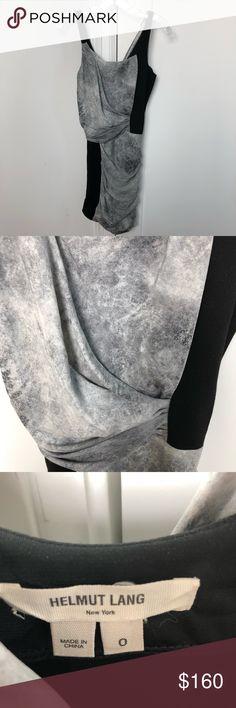 Helmut Lang size 0 sleeveless grey black dress Excellent condition size 0 dress by helmut Lang Helmut Lang Dresses Mini