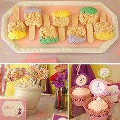 paintbrush rice krispies!  super cute for a tangled birthday party!!