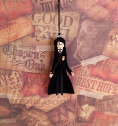 Harry Potter Clothespin Doll Ornament by LittleParade on Etsy