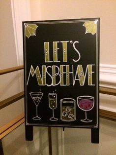 """Art Deco- Roaring Twenties- Great Gatsby Wedding """"Let's Misbehave"""" Quote Hand Painted Sign , . Art Deco- Roaring Twenties- Great Gatsby Wedding """"Let's Misbehave"""" Quote Hand Painted Sign , Great Gatsby Party, Gatsby Themed Party, Nye Party, Evening Party, Prohibition Party, Speakeasy Party, Party Quotes, Wedding Quotes, New Year's Eve 2020"""