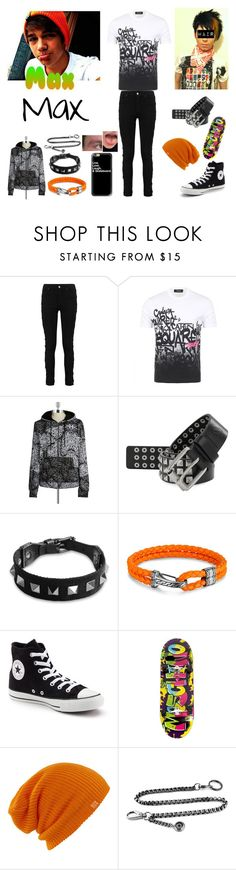 """""""Max's New Look"""" by keih95 ❤ liked on Polyvore featuring Dsquared2, ElevenParis, William Rast, Valentino, John Hardy, Converse, Moschino, Burton, Casetify and men's fashion"""