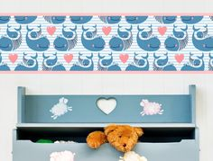 Wal Bordüre für Kinderzimmer - I-love-Wandtattoo.de