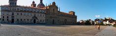 Explanada con Escolapios y Castillo de San Vicente en Monforte de Lemos-Galicia