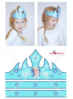 Frozen Crown, Elsa Frozen kroontje als Printable bij www.pink-cherry.nl