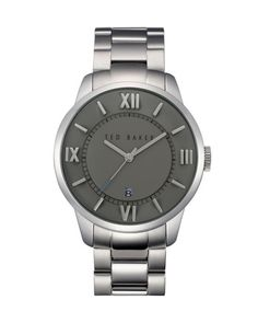 Round face link watch - Silver | Jewelry | Ted Baker