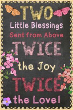 Twins Pregnancy Announcement / Instant Download / Twice the Joy & Twice the Love /Printable