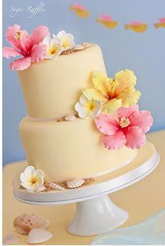Fresh tropical cake design