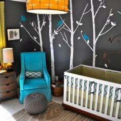 Forest Themed Baby Room Camping is a Mary thing, I bet a camping/forest themed room would be super cute!