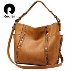 fashion women shoulder bag female casual tote bag ladies handbag large capacity with Rivet and Ruched Brown/Gray - fashion women shoulder bag female casual tote bag ladies handbag large capacity with Rivet and Ruched Brown/Gray Source by Tote Handbags, Purses And Handbags, Leather Handbags, Tote Bags, Crossbody Bags, Accessorize Bags, Brown Purses, Casual Bags, Luxury Bags