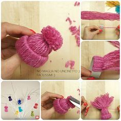 Creative ideas for Christmas with tutorial Christmas decorations . Creative ideas for Christmas with tutorial Christmas decorations wi Christmas Craft Fair, Christmas Crafts For Kids To Make, Christmas Love, Holiday Crafts, Diy Christmas Ornaments, Handmade Christmas, Christmas Decorations, Pom Pom Crafts, Snowman Crafts
