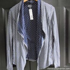 #FixedOnFall Margerie Stripe & Dot Open Cardigan from Market & Spruce - Google Search