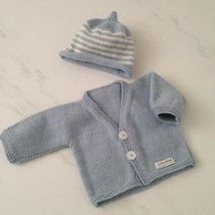 Knitted Merino Boys Cardigan Beanie Set NZ Made Weebits