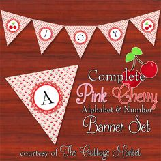 PERFECT for Valentine's Day! Free Printable Complete Alphabet and Number Cottage Banner/Bunting
