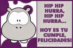Hip Hip Hurra, Hoy es tu Cumple #cumpleanos #feliz_cumpleanos #felicidades #happy_birthday #tarta_cumpleanos #pastel_cumpleanos #birthday_cake