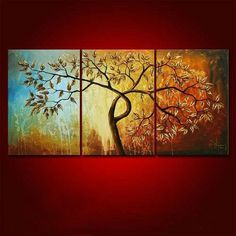 Modern hand painted Chinese canvas paintings flowers wall art