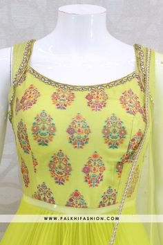 Light green soft tissue silk indian outfit from palkhi fashion featuring cutdana,kundan & embroidery work.soft dupatta with handcrafted lace & petite stone Indian Fashion Dresses, Indian Gowns Dresses, Dress Indian Style, Indian Designer Outfits, Indian Outfits, Flapper Dresses, Long Skirt Top Designs, Dress Neck Designs, Blouse Designs